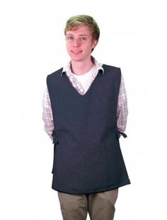 This square bottom v-neck cobbler apron features a center divided pouch pocket and adjustable side ties for a perfect fit. The material is poly-cotton twill treated with ProDura Soil Release Finish. Available in 6 colors. Cobbler Aprons, Lab Coats, Smocking, Perfect Fit, V Neck, Cotton, Jackets, Pouch, Colors