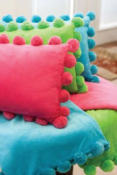 Sooo soft and cuddley! These throws and pillows are adorable monogrammed.