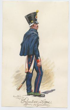 Infanterie de ligne Ofiicier de grenadiers