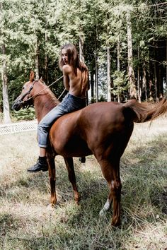 We had 25 acres in our backyard, and in the summer i would be able to take my top off when i rode my horse.I had such a beautiful tan that summer.