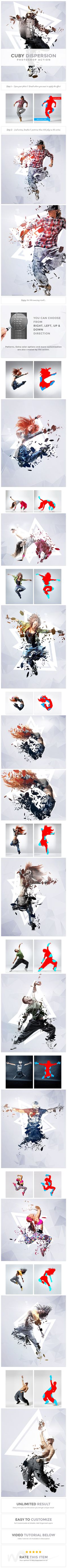 Cuby Dispersion | PS Action - Photo Effects Actions