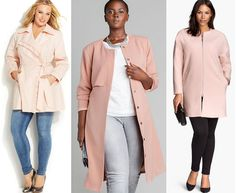 Shapely Chic Sheri -Currently Craving: Plus Size Blush Pink Coats