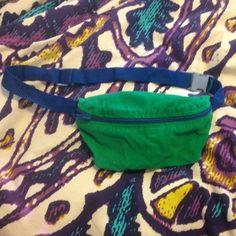 Fanny pack American apparel green w blue zipper/strap American Apparel Accessories