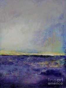 Abstract Landscape Painting - Serenity by Johane Amirault