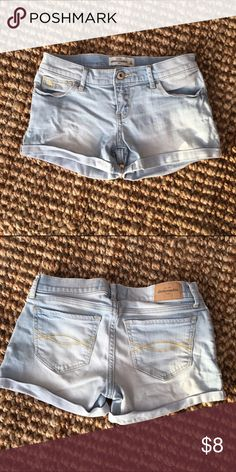 Abercrombie Kids cuffed denim short Lightwash abercrombie kids Bottoms Shorts