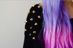 pink colored hair