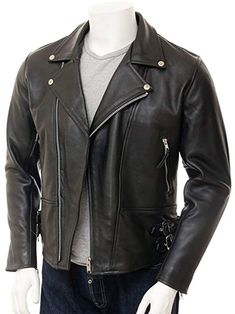d19356fd04123 Laverapelle Men s Black Genuine Lambskin Leather Jacket - 1501429 Review Black  Leather Biker Jacket