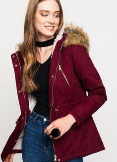 Kup mój przedmiot na #vintedpl http://www.vinted.pl/damska-odziez/parki/21315394-bordowa-parka-kurtka-r-36-tally-weijl