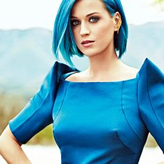 Katy Perry in blue