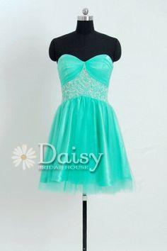2013 Mint Short Prom Dress with Jeweled Waist Sweetheart Homecoming Dress Evening Cocktail Dress Mint Prom Dress(PR0695021) on Wanelo