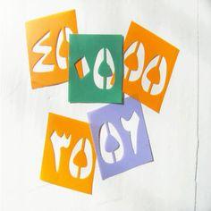 arabic numbers stencils 0 100