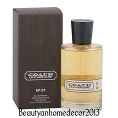Coach Leatherware No 1 by Coach 3.4 oz EDP Parfum Spray for Men NEW IN BOX #Coach