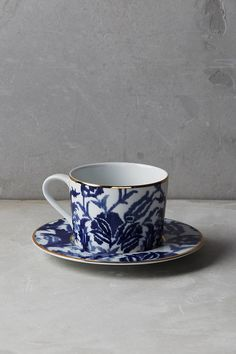 Anthropologie Seaport Cup & Saucer