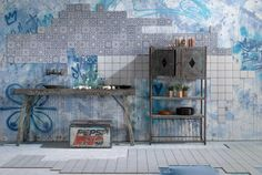 Buy Tangier Blue Decor Tile tiles from Tons of Tiles with Next Day UK Delivery, Samples Available from only inc P&P.