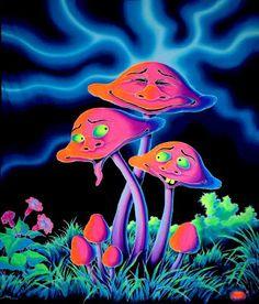 trippy psycodelic mushroom art