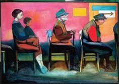 Andrzej Wróblewski, Waiting Room I (The Queue Continues), 1956