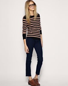 I have an unhealthy addiction to horizontal stripes this year... that and gray...