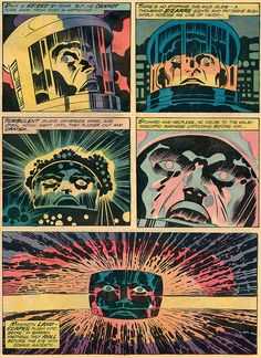 One of the best decisions ever made by Marvel was making Jack Kirby the writer/artist of the comic book adaption/continuation of 2001: a Space Odyssey. He was uniquely suited to the task, with a style of writing and drawing that was melodramatic and megalithic.