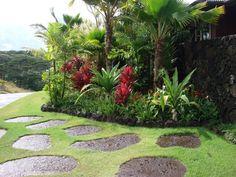 seashore paspalum2 Tropical Garden Design, Tropical Backyard, Tropical Landscaping, Garden Landscape Design, Landscaping With Rocks, Tropical Plants, Tropical Gardens, Landscape Designs, Landscape Plans