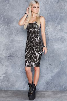 Next World Machine Midi Pencil Dress - 48HR ($100AUD) by BlackMilk Clothing