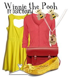 Winnie the Pooh by leslieakay on Polyvore featuring polyvore, fashion, style, Fat Face, Monserat De Lucca, The Cambridge Satchel Company, Miso, Disney Couture, Disney, clothing and disney