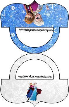Saquinho de Balas Frozen Azul e Branco: