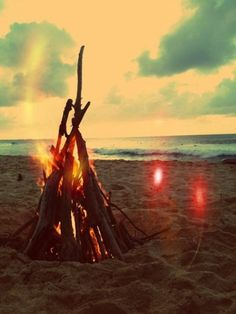 Beach bonfires. Every night + forever.