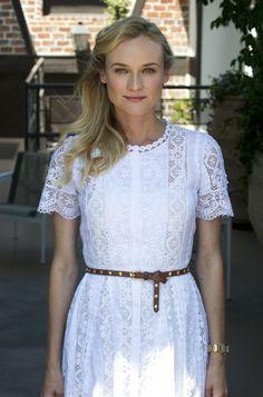 La robe en dentelle de Diane Kruger… / #style #summertime