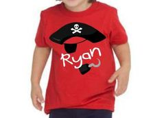 Pirate Birthday Shirt Personalized