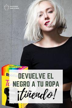 ¿Quieres devolverle el negro a tu ropa? Tintes Iberia es tu solución: usando el Tinte Negro a mano o a máquina podrás recuperar todas tus prendas negras... ¡Eso sí! recuerda que deben ser de un tejido teñible. ¡Te contamos más en nuestro blog! Shibori, Color Negra, Blog, Ideas, Coat Of Many Colors, Black T Shirt, Dark Clothing, Dyes, Tejido