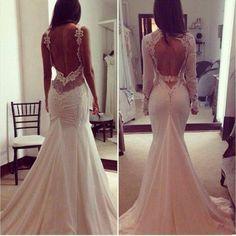 Back out wedding dress