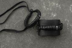 Leather cuff by Lina Takhautdinova | WILDHORN