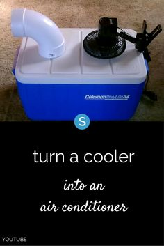 Here's How To Build A Simple DIY Solar-Powered A/C From A Cooler If it is hot in your home and your air conditioner isn't working (or can't keep up), here's an easy (and cheap) way to make a portable air conditioner using a cooler