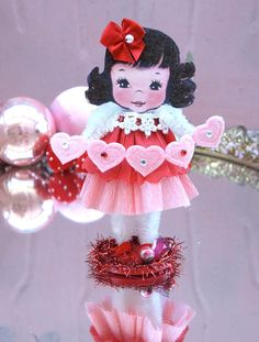 Vintage Inspired SuGaR SwEeT Valentine Paper Doll by saturdayfinds