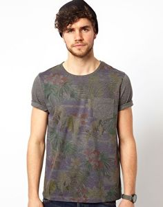 ASOS T-Shirt With Sublimated Floral Print