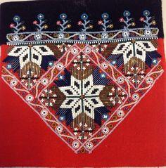 Hardanger Embroidery Bilderesultat for bringeduker til bunad - Hardanger Embroidery, Beaded Embroidery, Hand Embroidery, Types Of Embroidery, Embroidery Patterns, Ancient Persia, Scandinavian Art, Satin Stitch, Bead Crafts
