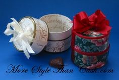 How to make a gift container using tuna or cat food cans