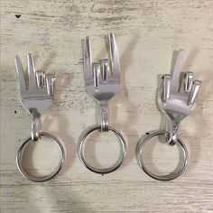 Repurposed fork keyrings