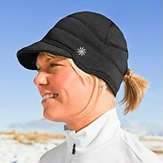 Winter running hat with a hole for my ponytail! Love!