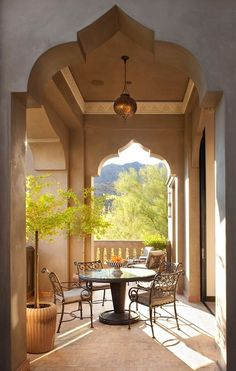 Balcony seating at Casbah Cove in California