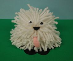 CLEARANCE -- Shaggy Yarn Dog Craft Kit. $3.50, via Etsy.