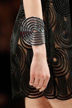 Bracelet inspiration - Christopher Kane statement sculptural jewellery - black bangle | www.elinmai.com