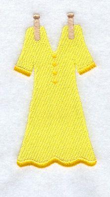 Clothesline - Dress design (A3750) from www.Emblibrary.com