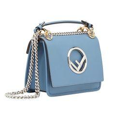 Fendi Kan I FF Logo Plaque Sky Blue Leather Shoulder Tote Bag for sale online Fendi Bags, Dior Bags, Crossbody Messenger Bag, Tote Bag, Blue Handbags, Branded Bags, Cloth Bags, Blue Bags, My Bags