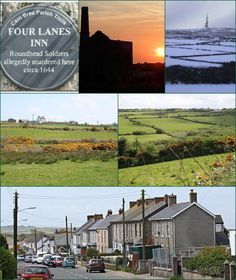 Four Lanes (Cornish: Peder Bownder) is a village in west Cornwall, England, approximately three miles (5 kilometres) south of Redruth, in the civil parish of Carn Brea.  Pencoys is a smaller settlement which adjoins Four Lanes immediately to the south.  Four Lanes and Pencoys are on the upland plateau of the Carnmenellis granite batholith. Four Lanes village centre is 220 metres (720 feet) above sea level.  The village is centred on The Square which is at a crossroads where the…