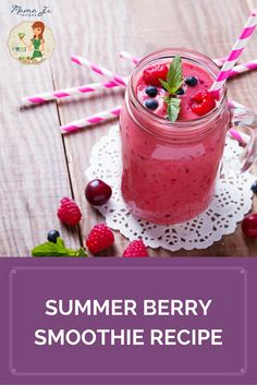 From cherries and strawberries to raspberries and blueberries… this Summer Berry Smoothie Recipe is sure to hit the spot.  It is deliciously refreshing and healthy!