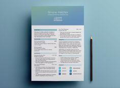 Here's a beautiful (less graphically intense) header option. | 21 Free Résumé Designs Every Job Hunter Needs