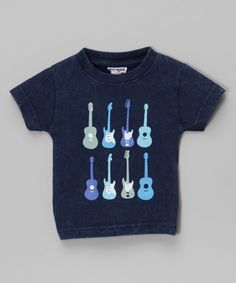 Loving this Mish Mish Navy Guitar Tee - Infant, Toddler & Boys on #zulily! #zulilyfinds