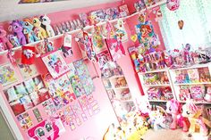 My Little Pony room OMG!!! LOL brooke would pass out i think if she seen this