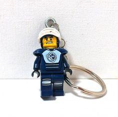 Hockey Player LEGO® Minifigure Keychain